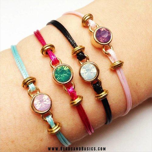 Swarovski Waxcord Bracelets
