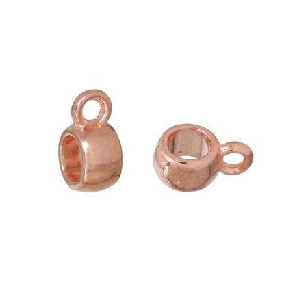 10 pieces Bail Bead Rose Gold 6mmx9mm