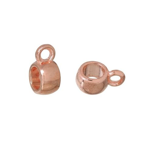 Bail Bead Rose Gold 6mmx9mm, 8 pieces