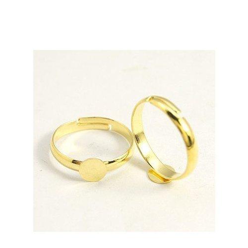 Verstelbare Ring Goud 17mm, 3 stuks