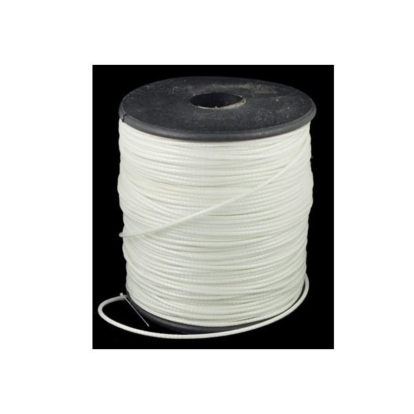 Waxed Cord White 1mm, 3 meter