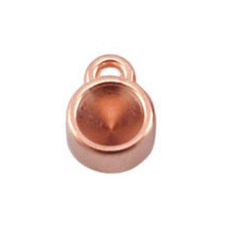 DQ Bedel Rose Goud 8mm voor Puntsteen ss29 / 6mm