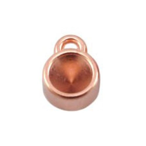 DQ Bedel Rose Goud 12x8mm voor Puntsteen ss29 / 6mm