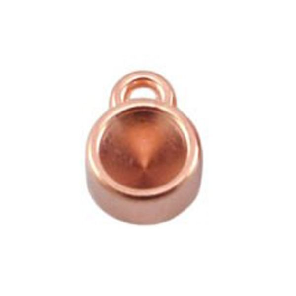DQ Charm Rose Gold 12x8mm fits Pointstone ss29 / 6.2mm