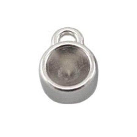 DQ Bedel Zilver 8mm voor Puntsteen ss29 / 6mm