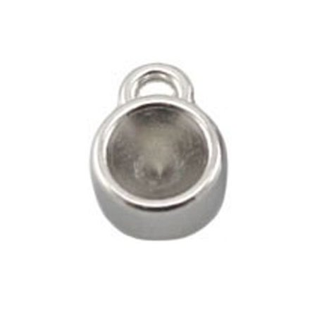 DQ Charm 8mm Silver for Pointstones ss29 /6mm