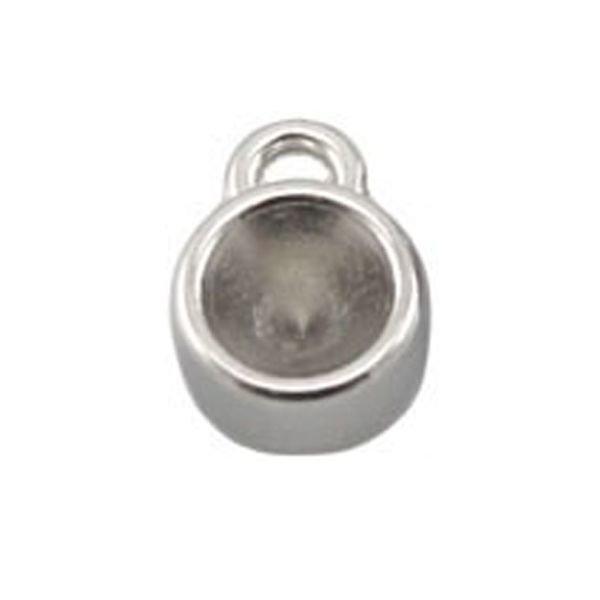 DQ Bedel Zilver kleur 12x8mm voor Puntsteen ss29