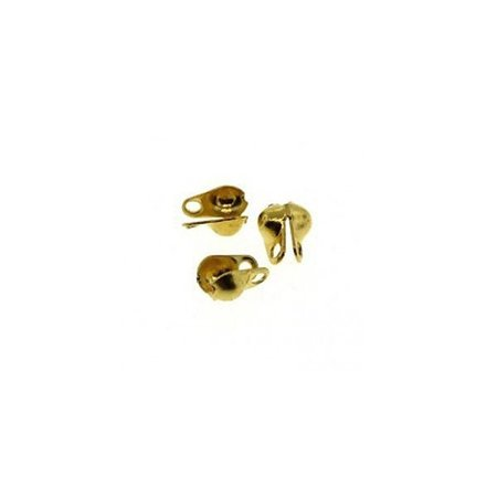 20 pieces Endcap for Ballchain Gold 2mm