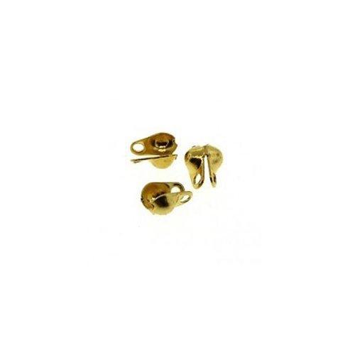20 pieces Endcap for Ballchain Gold 1.5mm
