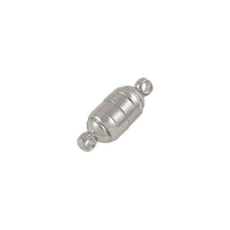 5 stuks Magneetsluiting Zilver Nikkelvrij 15x6mm