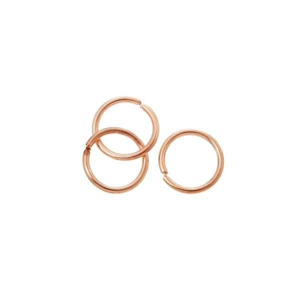 Jump Rings Rose Gold 6mm, 50 pieces