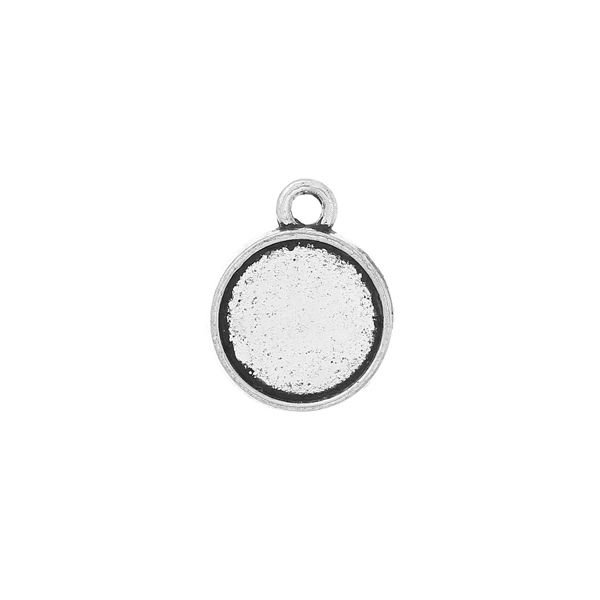 Silver Charm 16x13mm fits 10mm Cabochon,  10 pieces