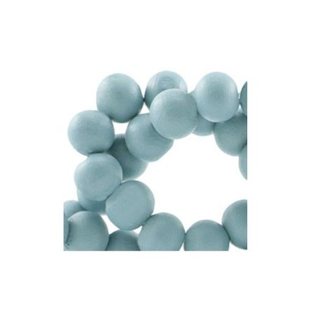 100 pcs Wooden Beads Blue 6mm