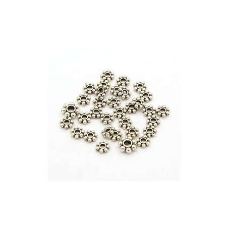 Metalen Spacer Beads Zilver 4mm, 100 stuks