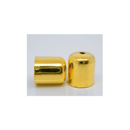 10 pcs End Cap Gold for 6mm