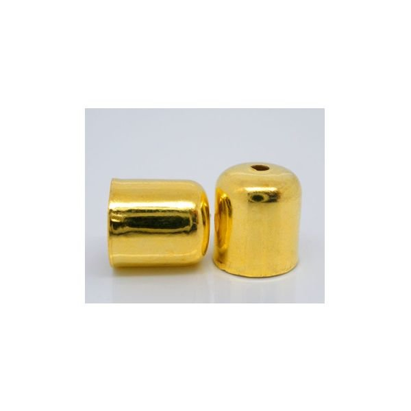 End Tip Bead Cap Gold for 6mm, 10 pieces
