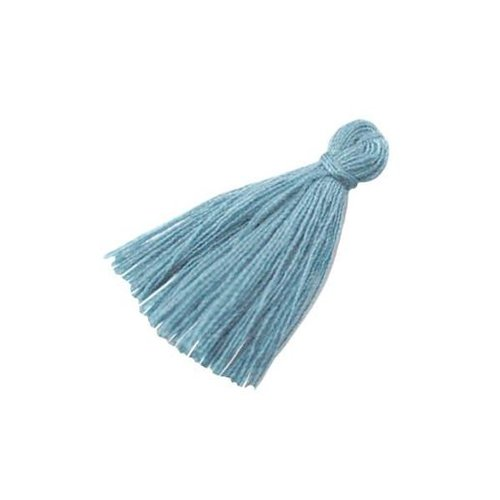 Tassel Grey Blue 30mm, 5 pieces