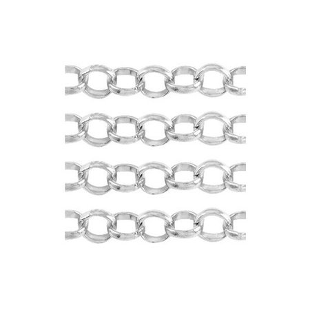 Jewelry Chain Silver 6mm, 1 meter
