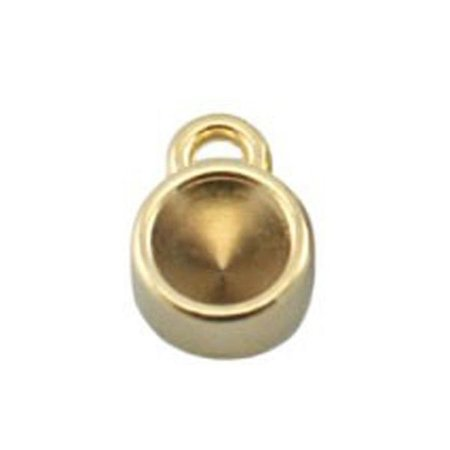 DQ Bedel Goud 8mm voor Puntsteen ss29 / 6mm