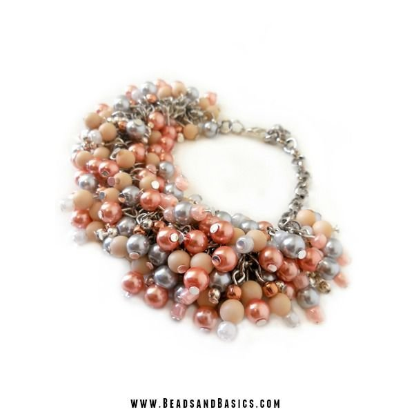 Seedbeads Salmon Pink 4mm, 20 gram