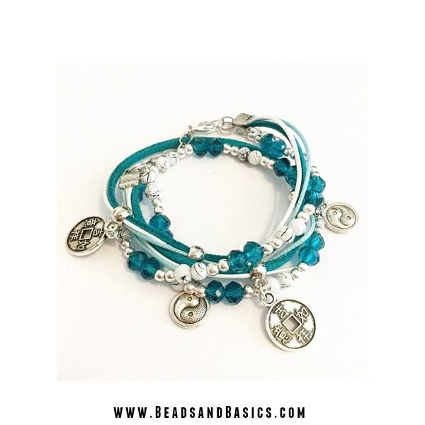Silver Coin Wrap Bracelet