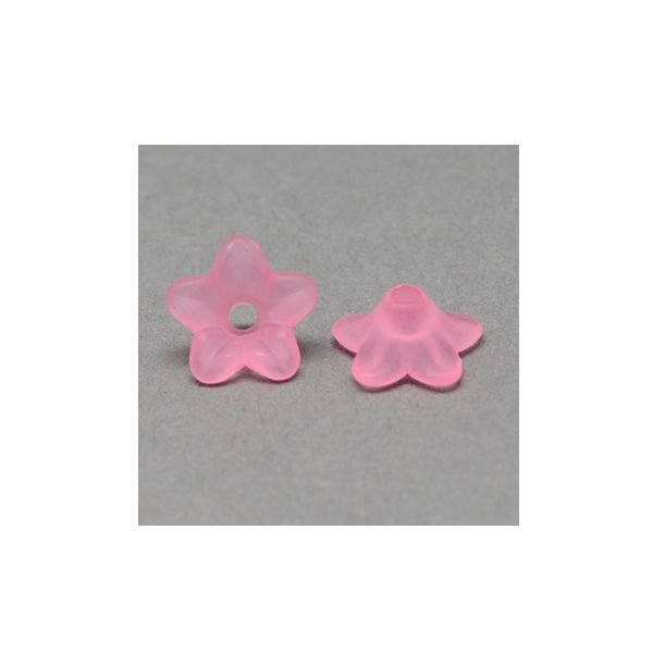 10 pieces Flower Beads Light Pink 9x4mm