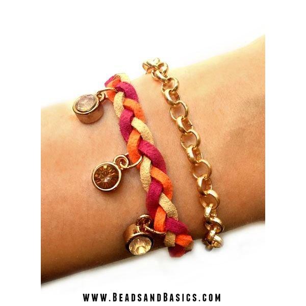 Bracelet Braiding With Suede Laces