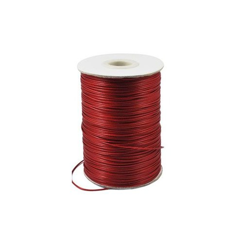 Waxed Cord Red 1mm, 3 meter
