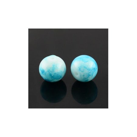 100 pcs Glass beads 6mm Blue Sky