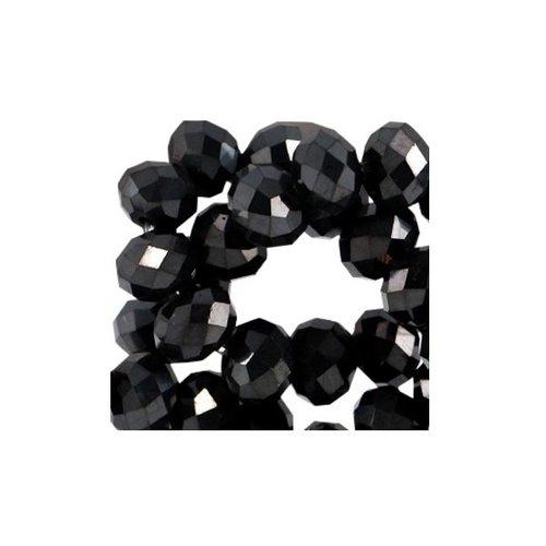 80 stuks Facetkralen Zwart Shine 2.5x2mm