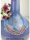 50 pieces Facet Bead Vintage Purple Shine 6x4mm