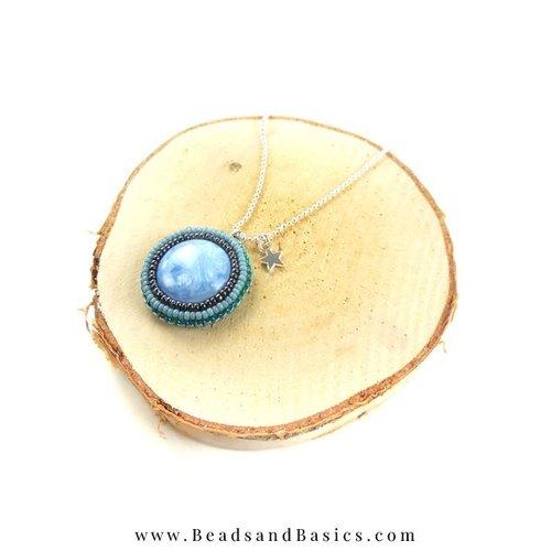 Bead Embroidery Bedel Maken met Blauwe Miyuki Kralen