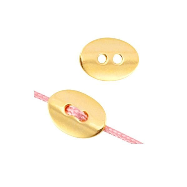 Metal Button Gold 14x10mm, 5 pieces