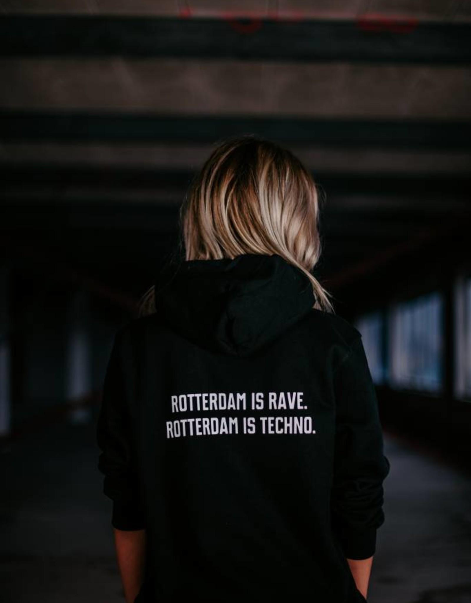 Rotterdam Rave Rotterdam Rave Hoodie Slogan (Unisex)