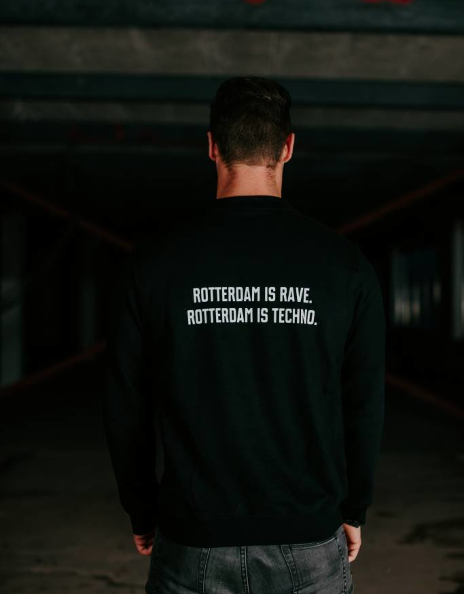 Rotterdam Rave Rotterdam Rave Crewneck Slogan (Unisex)