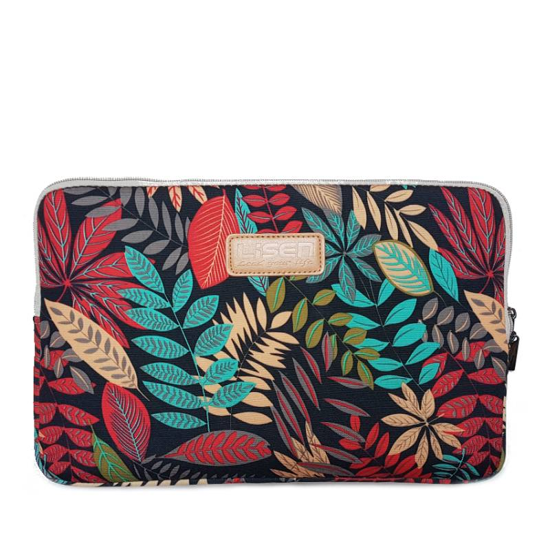 13inch Dames Laptop sleeve Forest Red