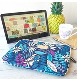 13inch Dames Laptop sleeve Forest Blue