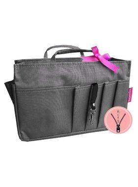 Bag in Bag Medium Classic Grijs Rits