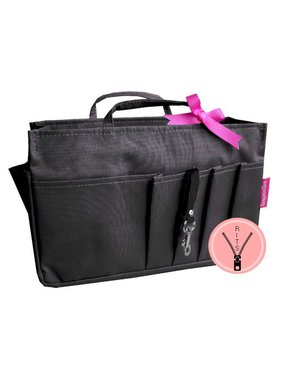Bag in Bag Large Classic Zwart Rits
