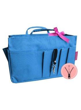 Bag in Bag Large Classic Blauw Rits