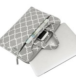 15inch Dames Laptoptas Hengsel Zigzag Grijs | Bestel via Bol.com