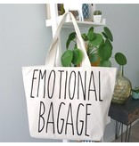 "Katoenen Shopper met tekst ""Emotional Bagage"""