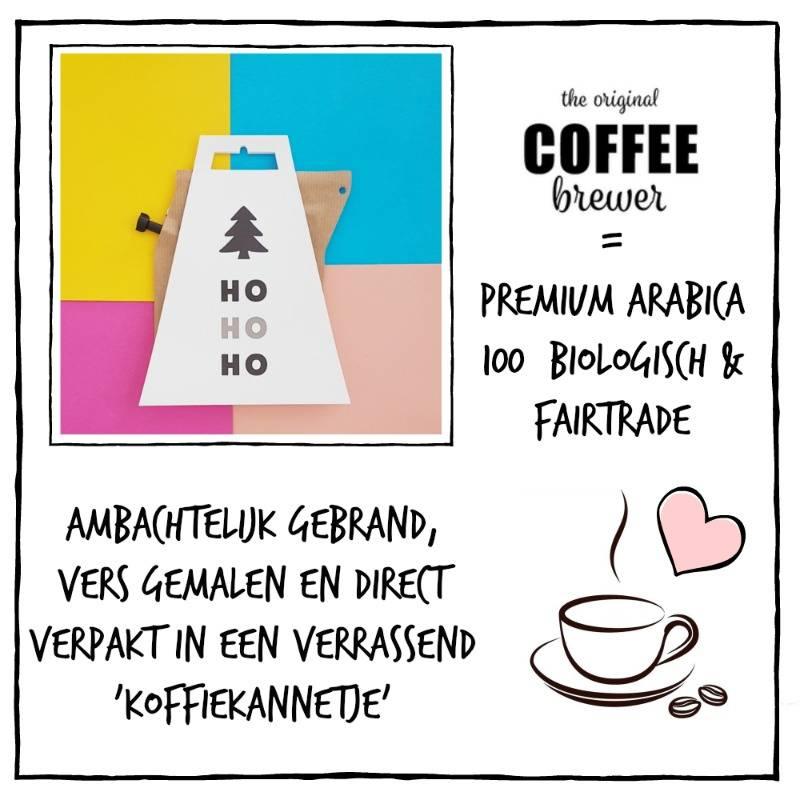 Koffie cadeau | Coffeebrewer Ho, Ho, Ho
