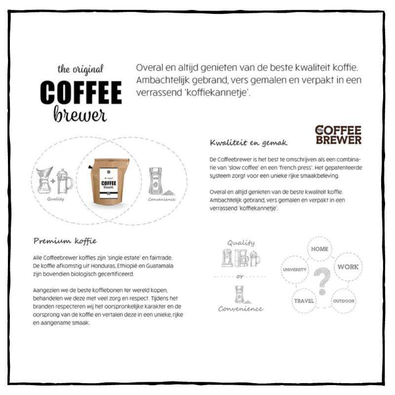 Koffie cadeau | Coffeebrewer Merry Christmas
