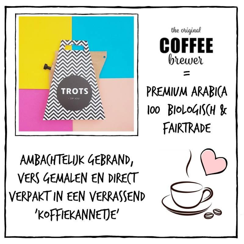 Koffie cadeau | Coffeebrewer Trots op Jou