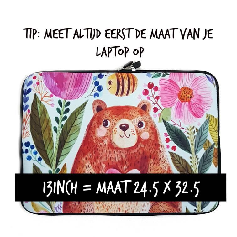 13inch Dames Laptop Sleeve Honingbeer