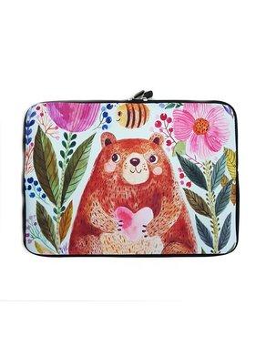 14inch Dames Laptop Sleeve Honingbeer