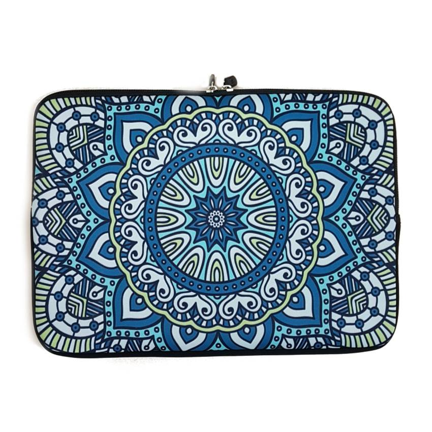 14inch Dames Laptop Sleeve Oosters Blauw