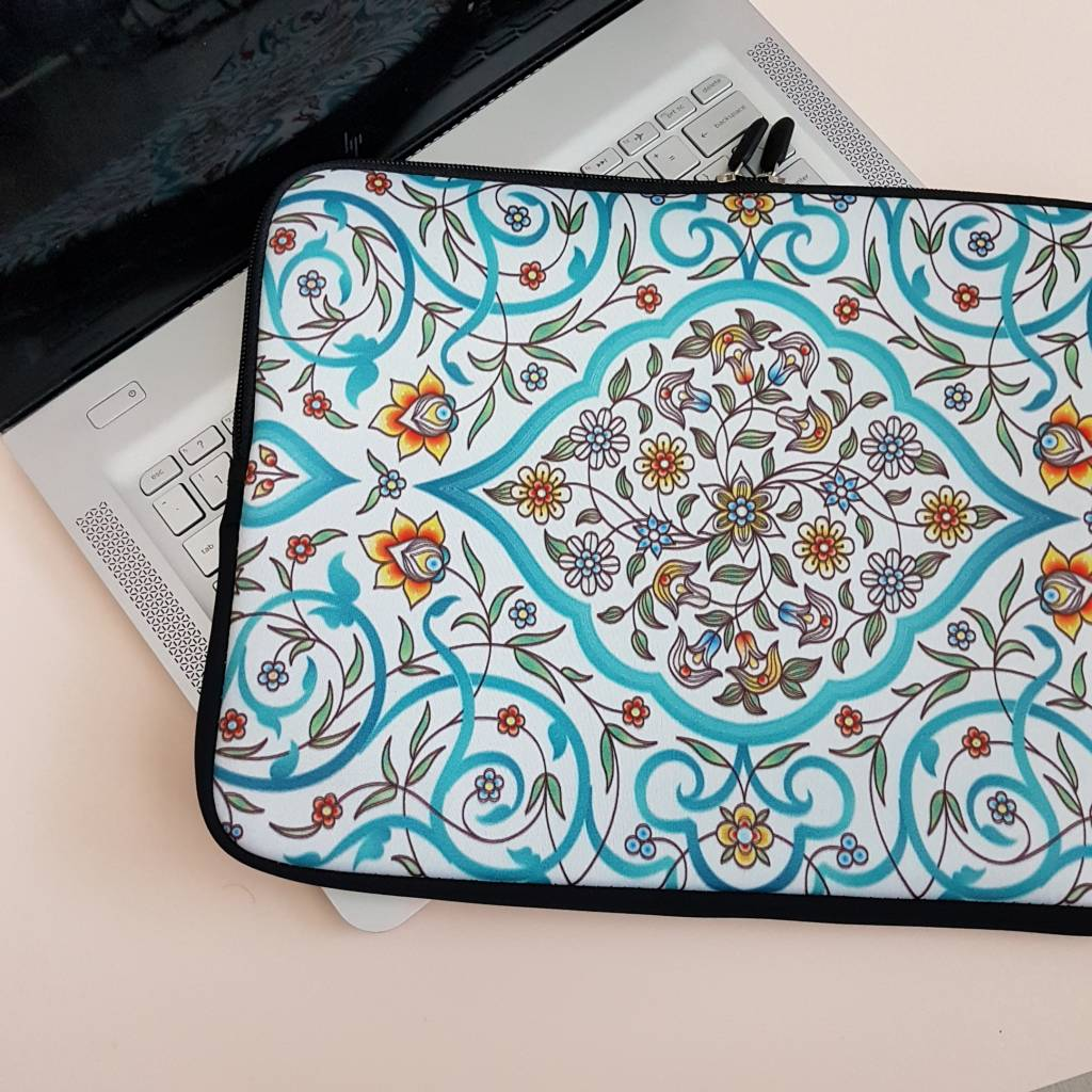 13inch Dames Laptop Sleeve Oosterse Bloemen