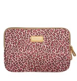 13inch Dames Laptop sleeve Roze Luipaard